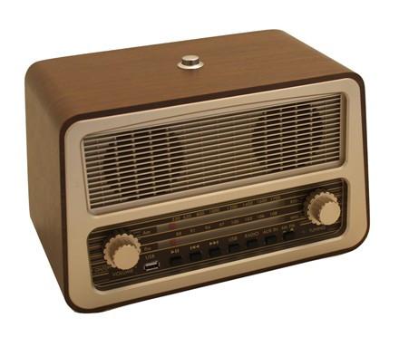 Retro Style Fm Am Usb One Button Radio Dementiasigns