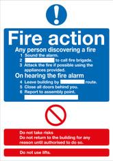 Fire Action (Standard) A5