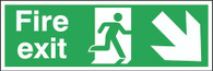 Fire Exit Running Man Arrow Down Right
