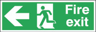 Fire Exit Running Man Arrow Left