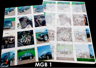 16 Piece Reminiscence Jigsaw - Car MGB 1
