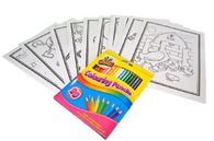 Colouring Cards And Crayons Set - Mixed