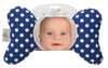 Blue Dot Baby Head Pillow