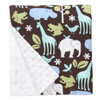 """Blue Zoology Large Baby Blanket (27"""" x 29"""")"""
