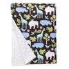 "Blue Zoology XL Baby Blanket (42"" x 32"")"