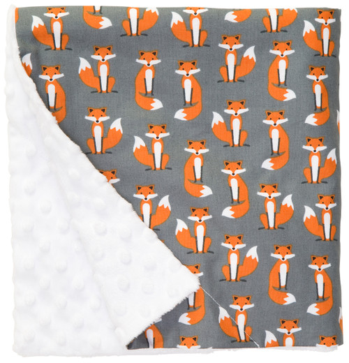 "Foxy Large Baby Blanket (27"" x 29"")"