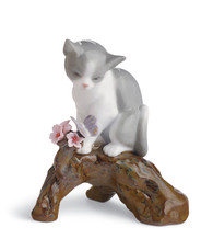 LLADRO BLOSSOMS FOR THE KITTEN (01008382 / 8382)