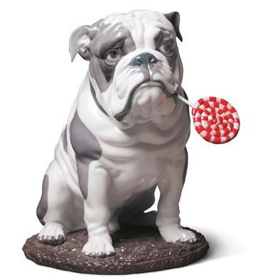 LLADRO BULLDOG WITH LOLLIPOP 01009234 / 9234