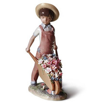 LLADRO WHEELBARROW WITH FLOWERS (01001283 / 1283)
