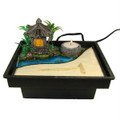 Zen Garden Table Water Fountain w/ Pavilion