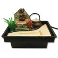 Zen Garden Table Water Fountain w/ Jar