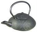 Black Bamboo Pine Plum Cast Iron Teapot 21oz