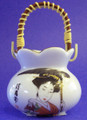 Porcelain Geisha Toothpick Holder A