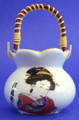 Porcelain Geisha Toothpick Holder B