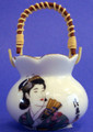 Porcelain Geisha Toothpick Holder C