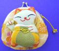 Maneki Neko Lucky Cat Coin Purse #22408-8