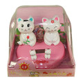 Flip Flap Solar Powered Double Maneki Neko Lucky Cat