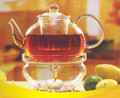 Glass Teapot & Warmer Set 34oz