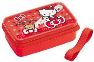 sanrio hello kitty bear ribbon lunch bento box w chopsticks japan bargain inc. Black Bedroom Furniture Sets. Home Design Ideas