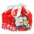 Sanrio Hello Kitty Bear with Ribbon Draw String Bento Box Bag