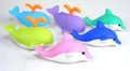 6 pieces Iwako erasers - Whale & Dolphin (Color May Vary)