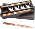 Bamboo Chopsticks w/ White Porcelain Crane Chopsticks Rests Set #1059
