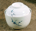 Bamboo Melamine Plastic Miso Soup Bowl w/Lid