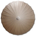 Brown Paper Wedding Party Parasol 32in