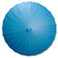 Blue Paper Wedding Party Parasol 32in