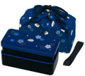Japanese Traditional Rabbit Blossom Bento Box Set Blue