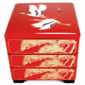 Japanese Stack Box 3 Tiers Red