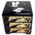 Japanese Stack Box 3 Tiers Black