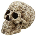 Decorative Ornate Rose Flower Skull Figurine