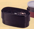 Usagi Lunch Bento Box 2 Tiers Black