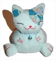 Bean Bag Lucky Cat Blue