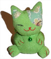 Bean Bag Lucky Cat Green