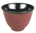 Hobnail Cast Iron Teacup Burgundy
