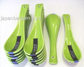 1x Green Porcelain Soup Spoons
