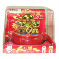 Gold Maneki Neko Family Bobble Head