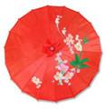 Red Oriental Parasol 32in