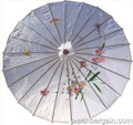 White Asian Parasol 22in