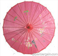 Hot Pink Oriental Parasol 32in