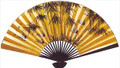 Large Oriental Wall Fan Bamboo & Crane 40in
