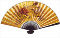 Large Oriental Wall Fan Dragon 30in