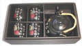 Black Porcelain Tea Set Calligraphy 27oz