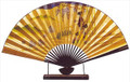 Large Japanese Table Fan Geisha 18in
