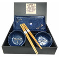 Dragonfly Porcelain Sushi Plate Sauce Dish Set