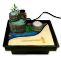 Zen Garden Table Water Fountain w/ Mill