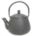 Black Basket Wave Cast Iron Teapot 24oz