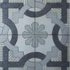 Black, White & Light Grey Grooved Pattern Tile - M²